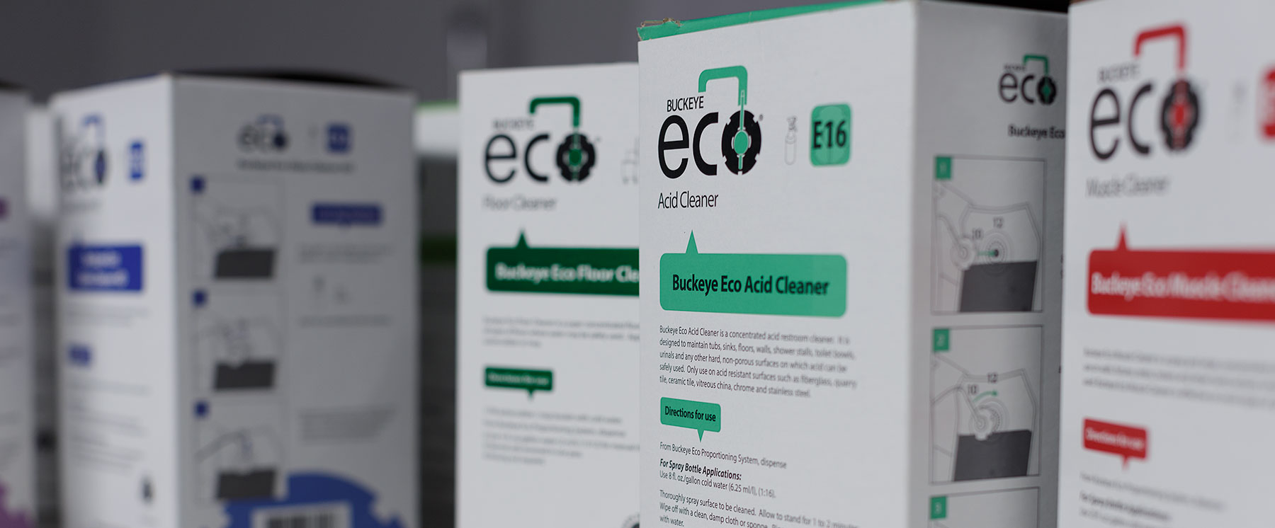 A picture of various Buckeye Eco products